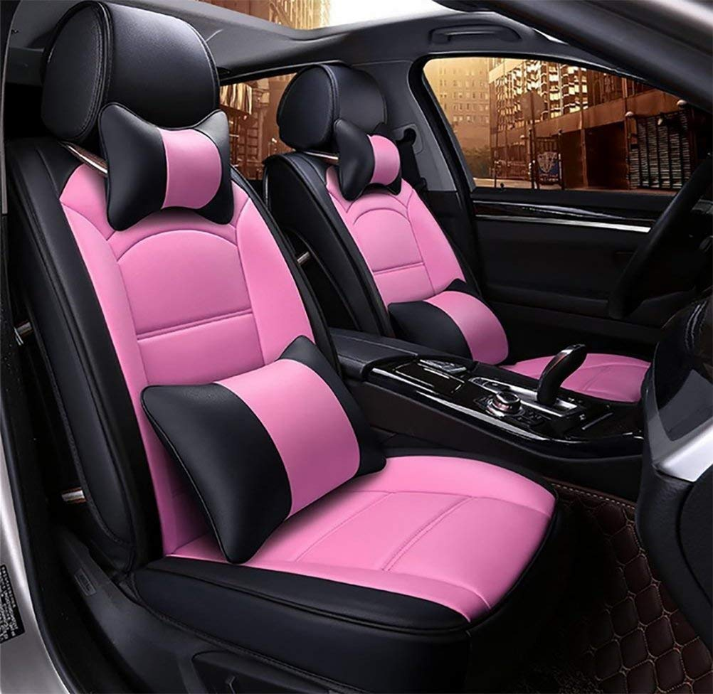 Car Seat Cushions 5 Seats Full Set-Easy to Clean PU Leather Universal Fit Car Seat Covers