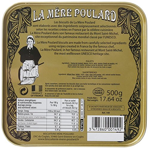 La Mere Poulard - Palets Butter Cookies From France, Gift tin 17.5 oz