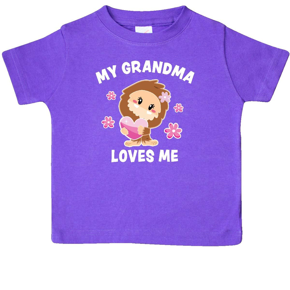 inktastic My Grandma Loves Me with Bigfoot Baby T-Shirt