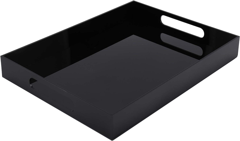 WUWEOT Black Acrylic Serving Tray, 15.8