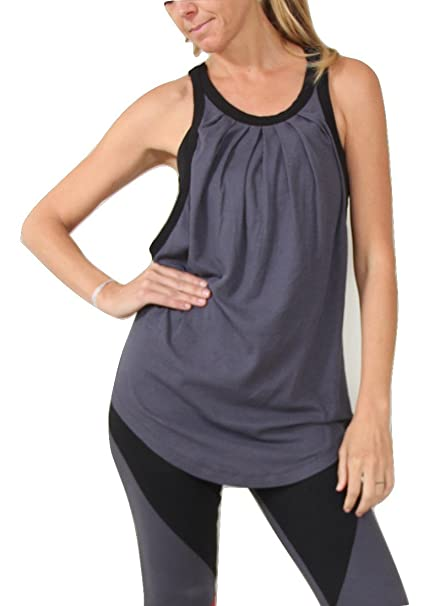 06b4b7bb2 Prancing Leopard Women s Yoga Vest RONDANE - Fitness Tank in Organic Cotton  and Tencel - XS