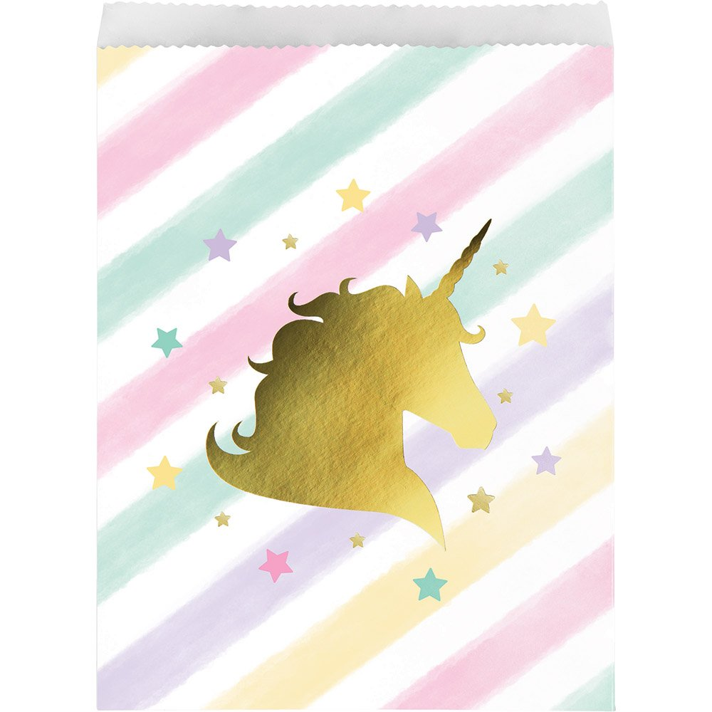 Creative Converting Unicorn Birthday Party Ultimate Bundle Serves 16 Guests: Happy Birthday Banner, Photo Props, Treat Bags, Plates & Napkins, Table Cover and Unicorn Cookie Cutter with Bonus Recipe by Creative Converting (Image #2)