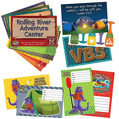Vacation Bible School (VBS) 2018 Rolling River Rampage Activity Center Signs & Publicity Pak: Experience the Ride of a Lifetime with (Rolling Activity)