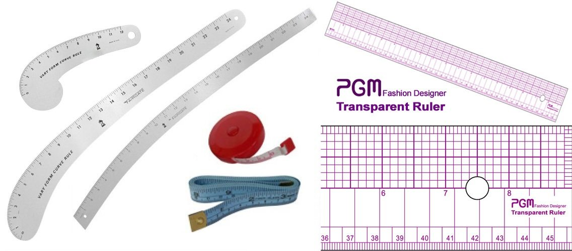 Fashion Ruler Set Fairgate Vary Form Curve French Curve Hip Curve with PGM Pattern Grading Rulers Curve Stick Pattern Design Ruler Set by GPM