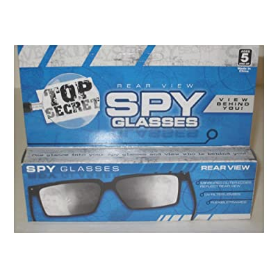 Unbranded Top Secret Spy Glasses - Magic Trick, Rear-View, Mirror Glasses, Joke/Gag/Prank Popular Toys: Toys & Games