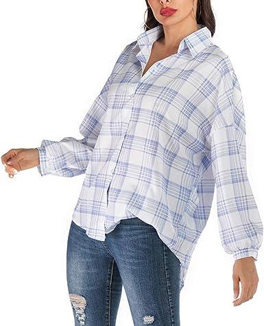 Camisa Suelta para Mujer Blusa Informal Tops Estampados ...