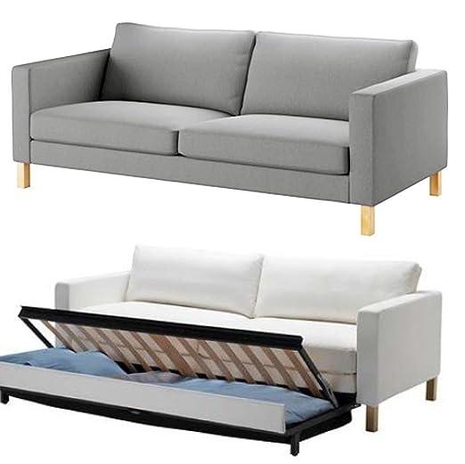 El algodón Duradero IKEA Karlstad 3 plazas sofá Cama o Funda ...