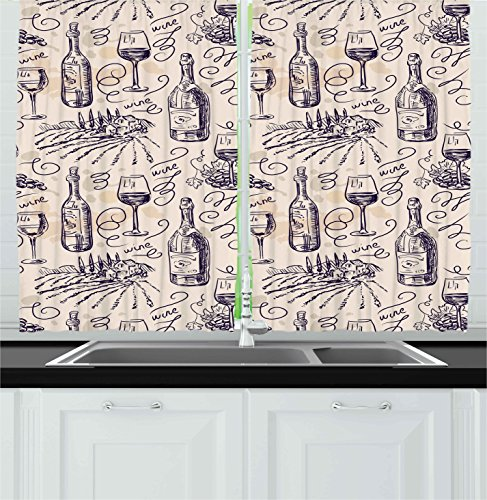 wine and grape kitchen curtains - 5