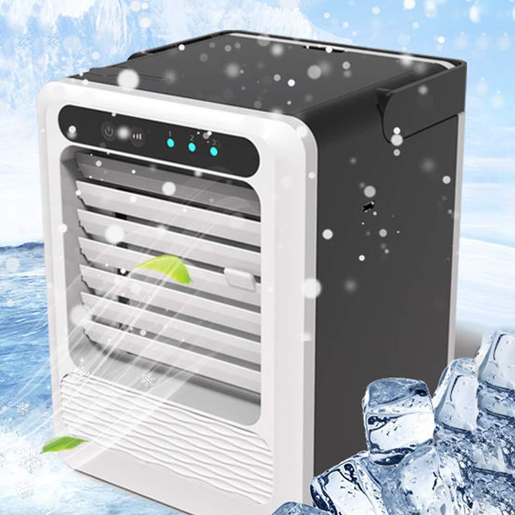 Free Size Noir Ganquer Chargement USB pour Maison /Ét/é Purificateur Refroidisseur Air /à Poser Humidification Ventilateur Mini