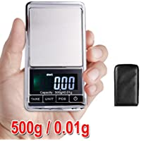 500g 0.01 Digital Pocket Scales Jewellery Electronic Milligram Micro mg Precision Stainless Steel Weight Lab Pouch