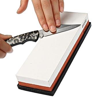 Bureze Dual Whetstone - Afilador de cuchillos de piedra de ...