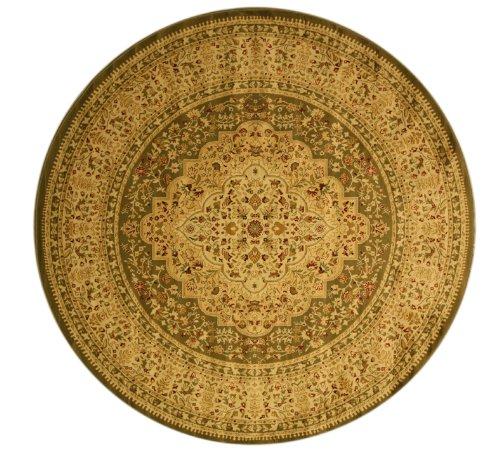 EORC OS1215GN Round Medallion Kars Tabriz Area Rug, 3.11-Feet, Green - Tabriz Center