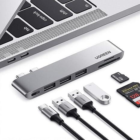 USB-C Hub Thunderbolt 3 Adapter mit 8K USB C USB 3.0 MacBook Pro 13 2020 100W Power Delivery 4K HDMI UGREEN USB C Hub HDMI kompatibel mit MacBook Pro 16 Zoll MacBook Air 15 2019 usw