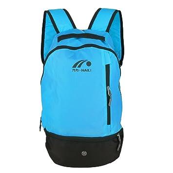 Mochila de Fútbol, 2 Colores Multifuctional Football Shoulders Bag Soccer Ball Backpack para Deportes al Aire Libre(Blue): Amazon.es: Deportes y aire libre