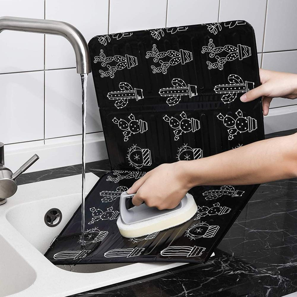 Aluminium Foil Plate Preventor Cooking Gas Stove Frying Pan Prevent Oil Splash Hot Baffle Non-Stick Screen Kitchen Gadgets Home Kitchen Tool Renococo 2PCS Folding Anti Splatter Shield Guard