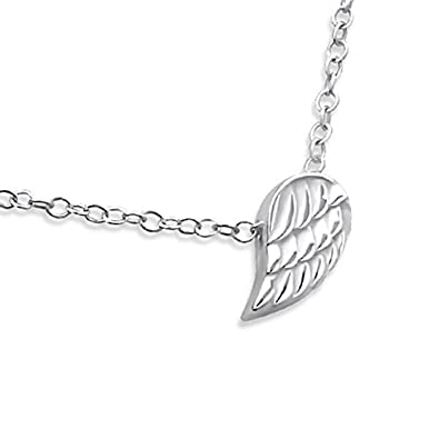 Sterling Silver Love Heart Necklace (Tiny and Discreet) PbCUyWY