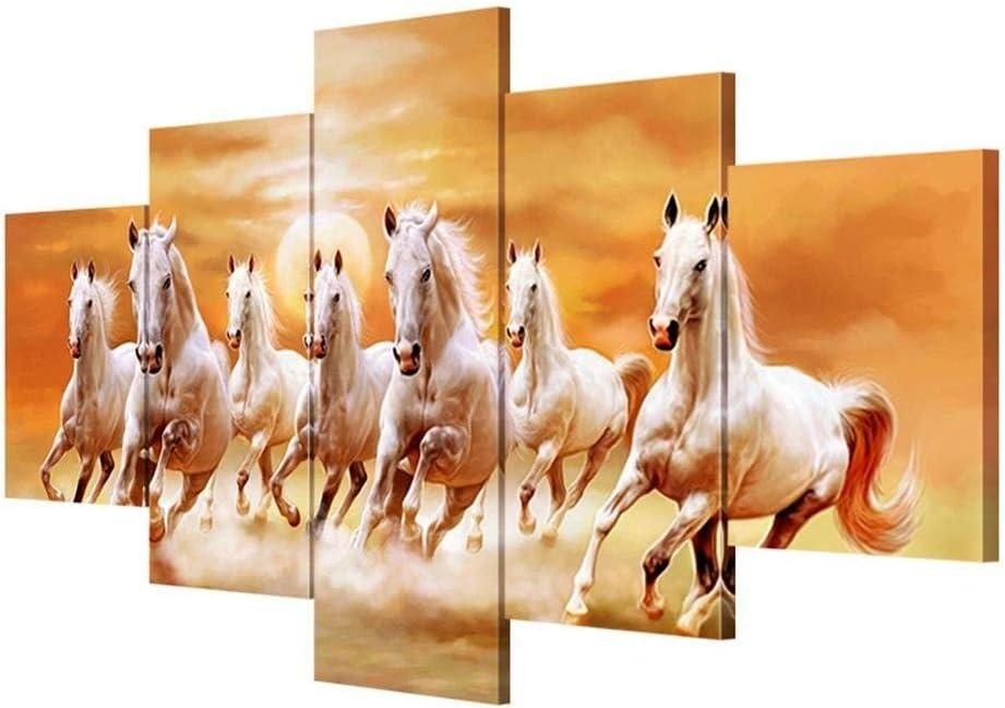 RR&LL Hang-Dressers Impresiones de Lienzo Extra Grandes Cuadro de Caballo Pintado a Mano Decoración de Lienzo Pintura Pintura de la Pared de la habitación (Tamaño: B)