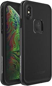 Lifeproof FRĒ SERIES Waterproof Case for iPhone Xs Max - Retail Packaging - ASPHALT (BLACK/DARK GREY)