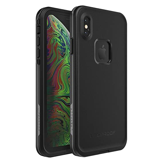 online store dadb4 0f0fe Lifeproof FRĒ SERIES Waterproof Case for iPhone Xs Max - Retail Packaging -  ASPHALT (BLACK/DARK GREY)