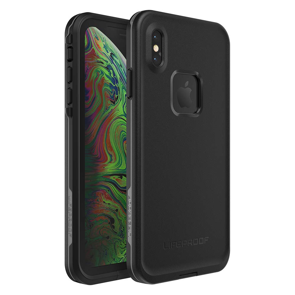 Lifeproof FRĒ SERIES Waterproof Case for iPhone Xs Max - Retail Packaging - ASPHALT (BLACK/DARK GREY)