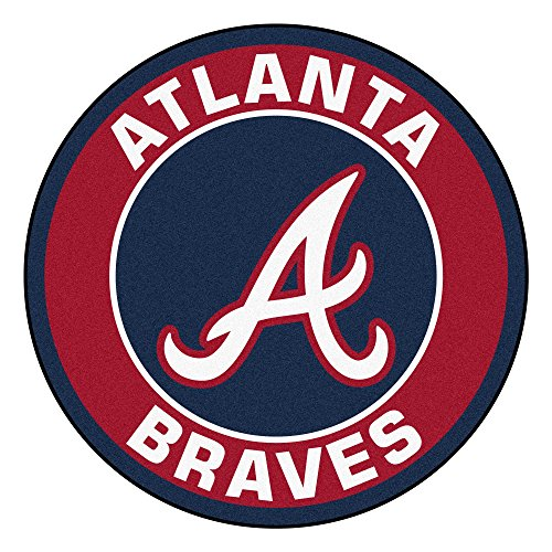 - MLB Atlanta Braves Rounded Non-Skid Mat Area Rug