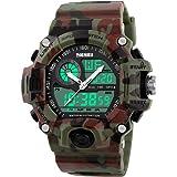 Uomini sport esterno di orologi casual militare Analogico Digitale LED impermeabile