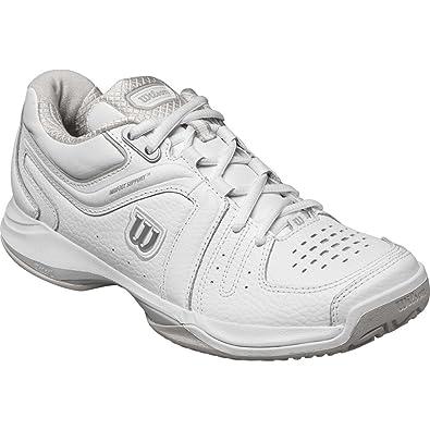 Wilson Rush Comp, Chaussures de Tennis Homme, Blanc (White/Black 000), 41 EU
