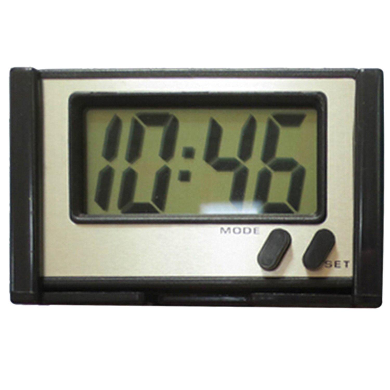 4.6 x 2.2CM Screen Adhesive Digital Electronic LED Clock For Car Black Gosear