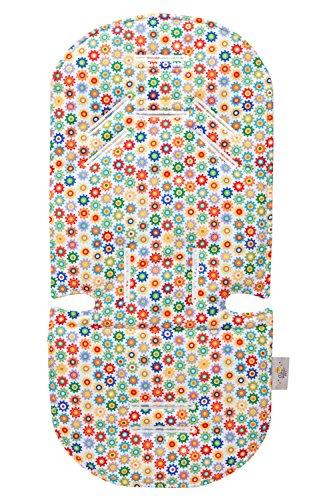 Original Baby Elephant Ears Stroller Liner & Support Pillow Set - For Infants & Toddlers (Sprockets) by Original Baby Elephant Ears