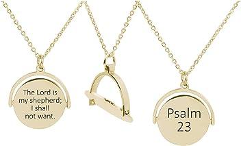 1 Corinthians 13:4 Pink Box Bezeled Disc Scripture Necklace Silver