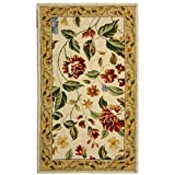 "Safavieh Chelsea Collection HK117A Hand-Hooked Ivory and Beige Premium Wool Area Rug (2'9"" x 4'9"")"