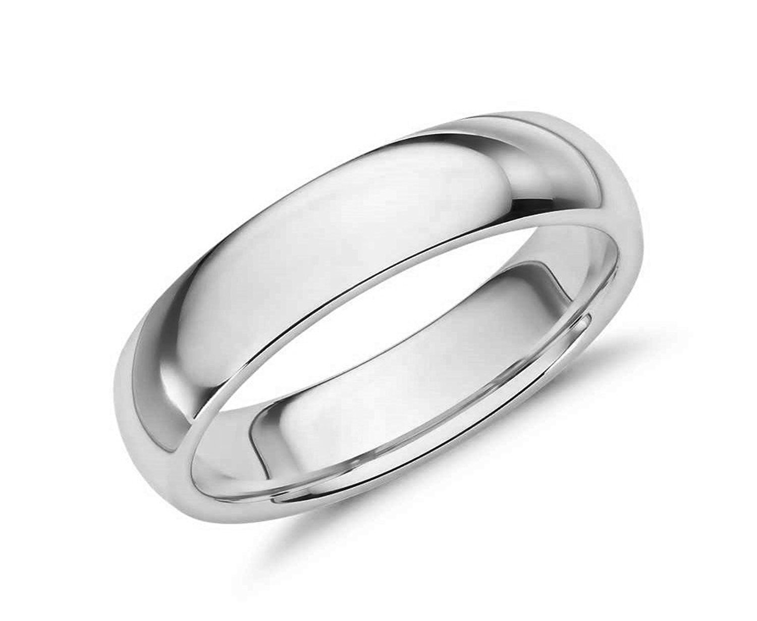 MCS Jewelry 14 Karat Gold Men's and Women's Plain Wedding Band Ring 8MM Comfort-Fit Light (white-gold, 10) by MCS Jewelry