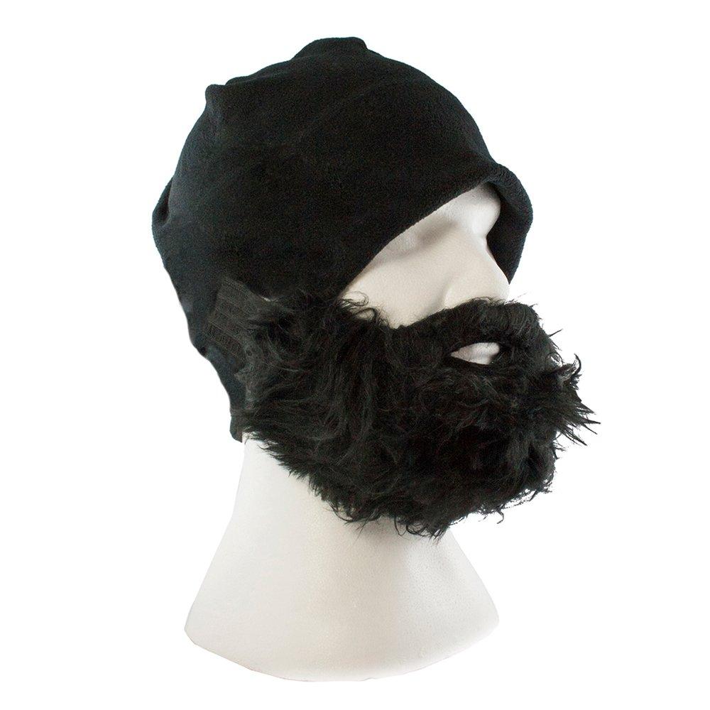 Lustige Bartmütze für Herren und Damen - Skimaske – Universalgröße - Farbe  Schwarz