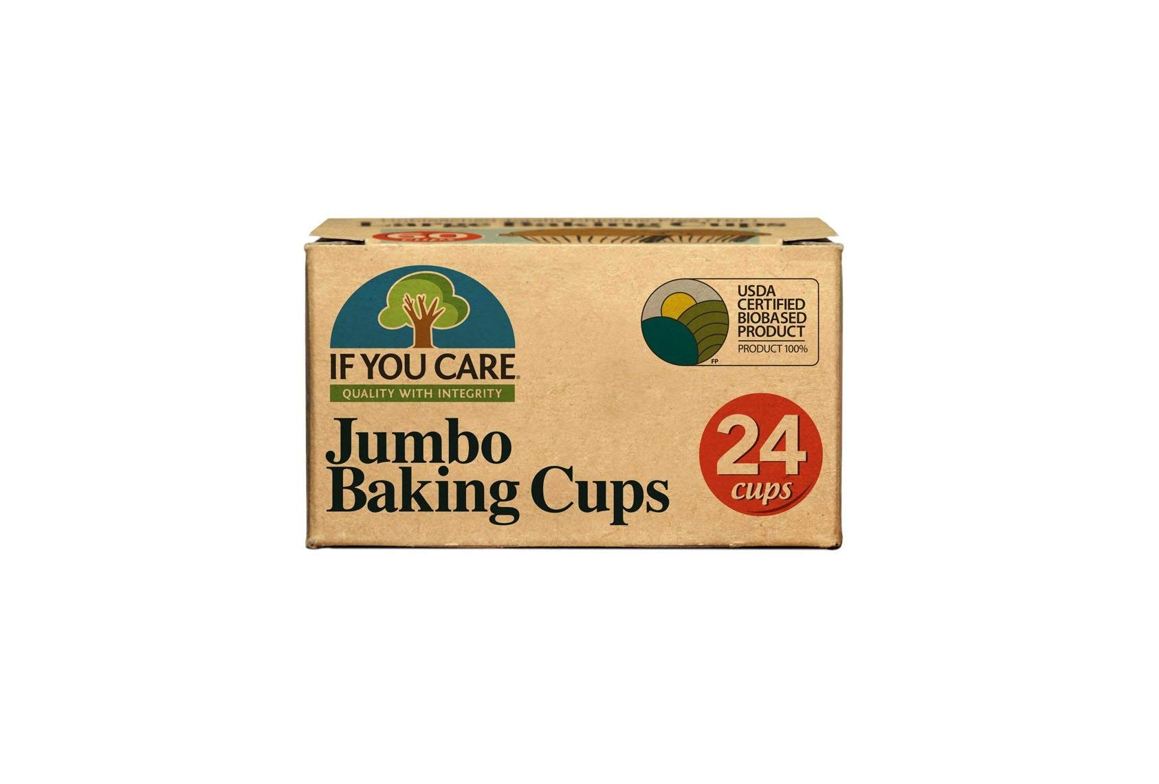 IF YOU CARE Jumbo Baking Cups, 24-Count Packages (Pack of 24)