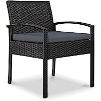 Gardeon Outdoor Dining Chairs Set Rattan-Black