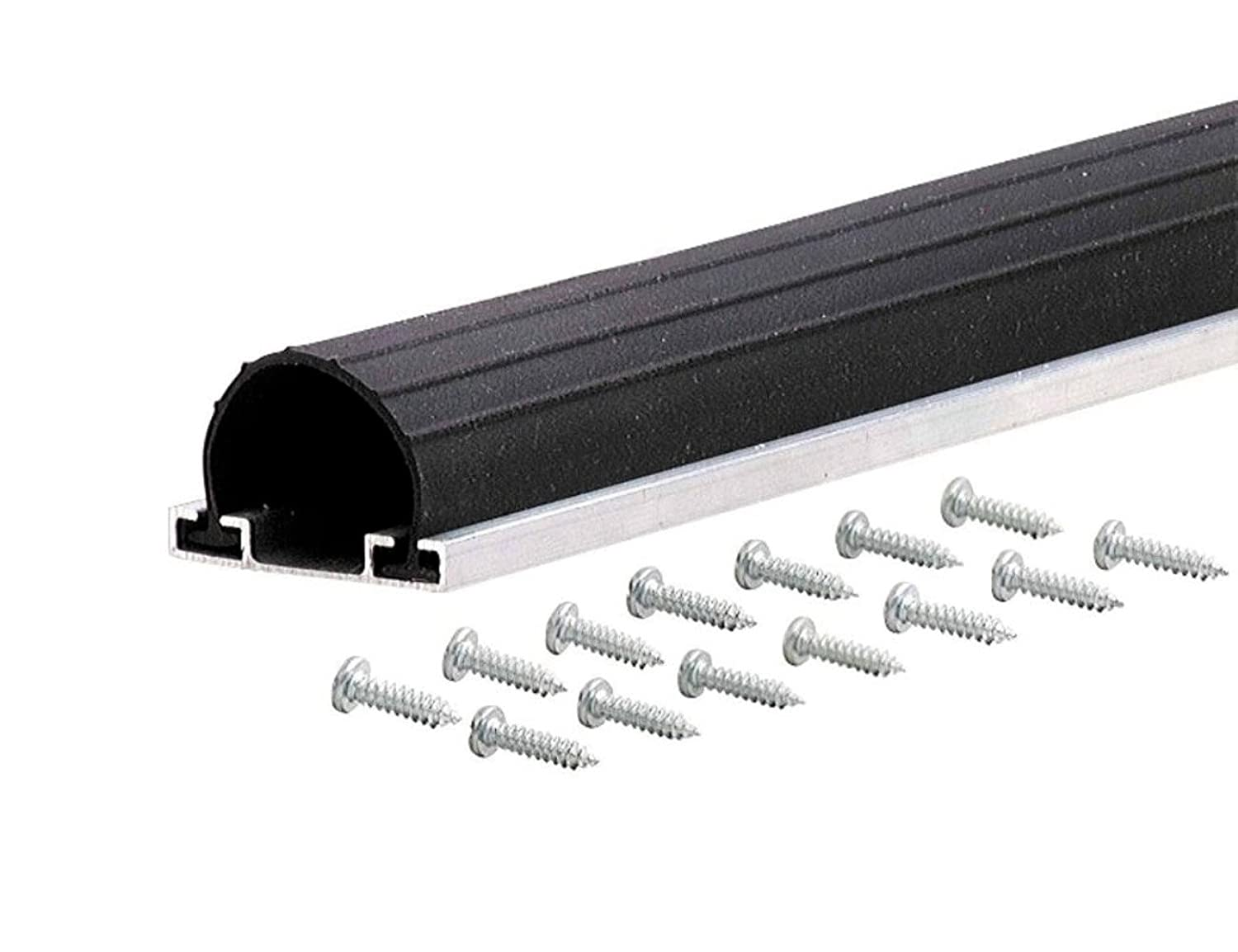 M-D Building Products 87643 9-Feet Universal Aluminum and Rubber Garage Door Bottom, Black