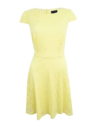 02645b7d Image Unavailable. Image not available for. Color: Connected Apparel Lace  Fit & Flare Women's Sheath Dress ...