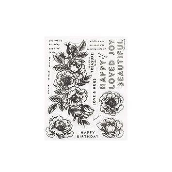 AchidistviQ Fleur Rose En Silicone Tampon Transparent DIY Album De Scrapbooking Cartes Visite Papier Outil
