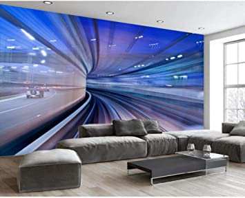 Mural Custom Wallpaper 3d Stereo Silhouette Channel Bar Ktv Restaurant Living Room Bedroom Tv Sofa Background 3d Wallpaper 280x200cm Amazon Com