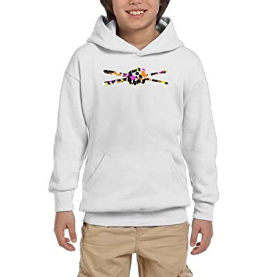Drumsticks Drummer Boys Casual Sweatshirt With Kangaroo Pocket