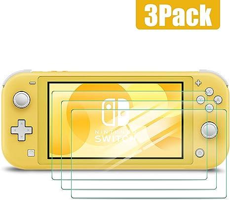 Nintendo Switch Lite Vidrio Templado,Protector de pantalla para Nintendo Switch Lite, Transparente HD Clear Film Scratch Resistance [Bubble Free] [Anti-Fingerprint] (3 Pack) : Amazon.es: Videojuegos