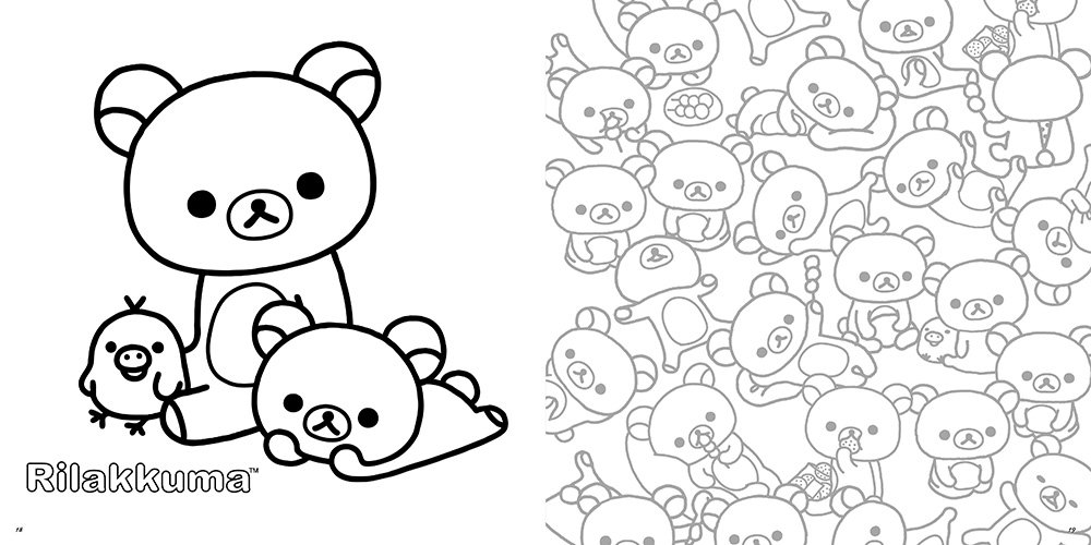 ゆるっと癒される リラックマ 塗り絵レッスンブック Inko Kotoriyama