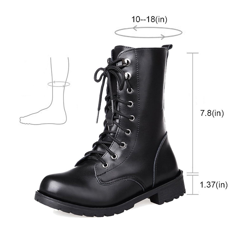 Amazon.com | ALBBG Combat Boots Women\'s, Martin Rivets Booties, Lace ...