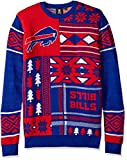NFL Buffalo Bills Patches Ugly Sweater, Blue, Small