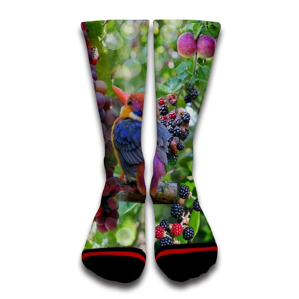 Light bulb beer Unisex Comfortable Funny Seamless Knee-High Casual Socks for Men Sport Socks