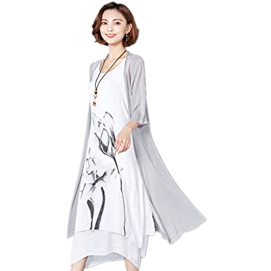 2018 Fashion Women Summer Dress Suits Cotton Linen Two Piece Set