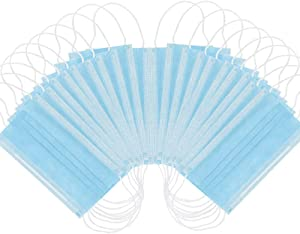 Disposable Face Masks for - Sealed Bag - Hygienic 3-Layer Filter Mask 50 Pcs