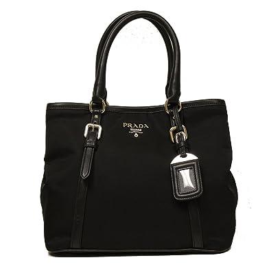 923d690d87b2b5 ... where to buy prada black tessuto soft calf leather bowling bag medium  top handle handbag with