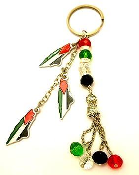 Recuerdo Palestina Metal bandera mapa palestino llavero moda ...