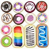 Imagination Generation Baker's Dozen Wooden Donuts, 13 Assorted Colorful Wood Eats! Pastries by